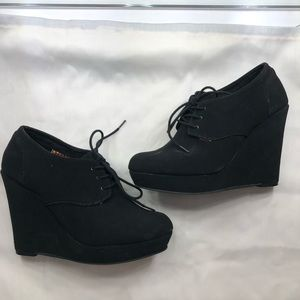 Shoes - Black wedge heel